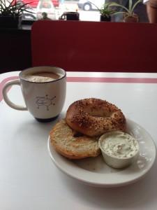 Atomix Vegan Tofu Cream Cheese Bagel | Vegan Nom Noms